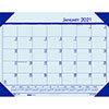 "Recycled EcoTones Ocean Blue Monthly Desk Pad Calendar, 22"" x 17"", 2021"