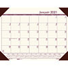 "Recycled EcoTones Moonlight Cream Monthly Desk Pad Calendar, 22"" x 17"", 2021"