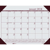 Recycled EcoTones Mountain Gray Monthly Desk Pad Calendar, 22 x 17, 2020