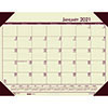 "Recycled EcoTones Desert Tan Monthly Desk Pad Calendar, 22"" x 17"", 2021"