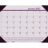 "Recycled EcoTones Sunrise Rose Monthly Desk Pad Calendar, 22"" x 17"", 2021"