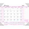 """Recycled Breast Cancer Awareness Monthly Desk Pad Calendar, 22"""" x 17"""", 2021"""