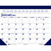 "Recycled Two-Color Monthly Desk Pad Calendar, 18 1/2"" x 13"", 2021"