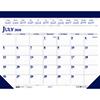 Two-Color Academic 14-Month Desk Pad Calendar, 22 x 17, 2020-2021