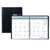 "Recycled Ruled Monthly Planner, 14-Month Dec.-Jan., 8 1/2"" x 11"", Black, 2021-2022"
