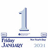 """Recycled Today Wall Calendar Refill, 6"""" x 6"""", 2021"""