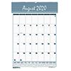 Bar Harbor Wirebound Academic Monthly Wall Calendar, 15-1/2 x 22, 2020-2021