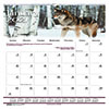 """Recycled Wildlife Scenes Monthly Wall Calendar, 12"""" x 12"""", 2021"""