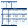 "Recycled Laminated Write-On/Wipe-Off Jumbo Yearly Wall Calendar, 66"" x 33"", 2021"