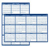 """Poster Style Reversible/Erasable Yearly Wall Calendar, 24"""" x 37"""", 2021"""