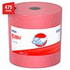X80 Wipers, HYDROKNIT Roll, 12 1/2 x 13 2/5, Red, 475 Wipers/Roll