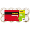 "Sure Start Packaging Tape, 1.88"" x 54.6yds, 3"" Core, Clear, 8/Pack"