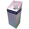 "Corrugated Hand Sanitizer Stand, 15"" x 15"" x 30"", 1 Gallon Holder, White"