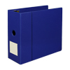 Clean Touch™ 3 Ring Binder Protected by Antimicrobial Additive, Reference Binder with Label Holder, 5 Inch Locking D-Rings, Blue