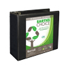 Earth's Choice™ Biobased 3 Ring View Binder, 5 Inch D-Ring, Customizable Clear View Cover, Black