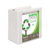 Earth's Choice™ Biobased 3 Ring View Binder, 5 Inch D-Ring, Customizable Clear View Cover, White