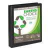Earth's Choice™ Biobased 3 Ring View Binder, 1 Inch D-Ring, Customizable Clear View Cover, Black