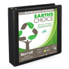 Earth's Choice™ Biobased 3 Ring View Binder, 1.5 Inch D-Ring, Customizable Clear View Cover, Black