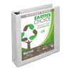 Earth's Choice Biobased 3 Ring View Binder, 2 Inch D-Ring, Customizable Clear View Cover, White