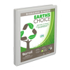 Earth's Choice™ Biobased 3 Ring View Binder, .5 Inch Round Ring, Customizable Clear View Cover, White