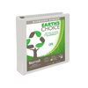 Earth's Choice™ Biobased 3 Ring View Binder, 1.5 Inch Round Ring, Customizable Clear View Cover, White