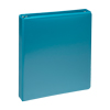 Fashion Color Durable 3 Ring View Binders, 1 Inch Round Ring, Customizable Clear View Cover, Turquoise, Two Pack