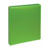 """Fashion Color Durable 3 Ring View Binders, 1"""" Round Ring, Customizable Clear View Cover, Lime Green, 2/PK"""
