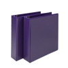 Fashion Color Durable 3 Ring View Binders, 2 Inch Round Ring, Customizable Clear View Cover, Purple, Two Pack