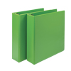 "Fashion Color Durable 3 Ring View Binders, 2"" Round Ring, Customizable Clear View Cover, Lime Green, 2/PK"