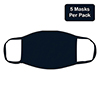 Multi-Layered, Cloth Face Masks, Navy, 5/PK