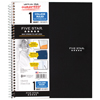 Wirebound Notebook, College Rule, 8 1/2 x 11, White Paper, 1 Subject, 100 Sheets, Assorted