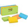 "Notes Original Pads in Jaipur Colors, 1 3/8"" x 1 7/8"", 100-Sheet, 12/Pack"
