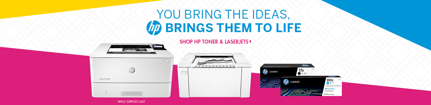 Save on HP Toner and Laserjets