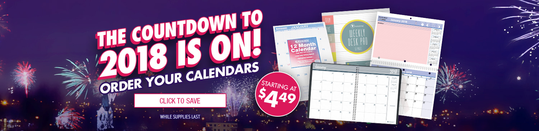 Save On 2018 Calendars