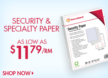 Save on Security & Specialty Paper