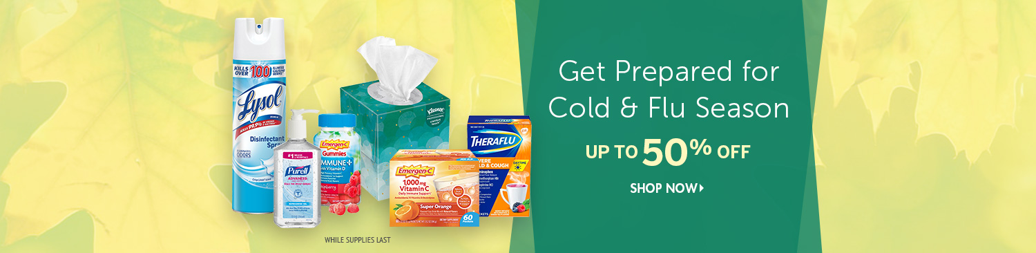 Save on Cold & Flu Products