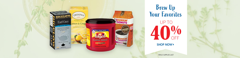 Save on Traditional Coffee and Tea