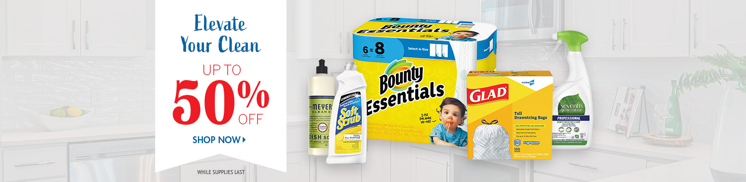 Save on Kitchen Cleaning Supplies
