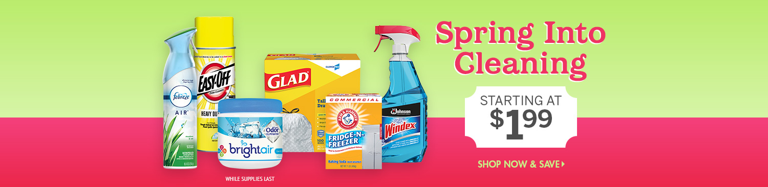 Save on Spring Cleaning Products