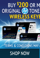 Shop Eligible HP Toner for $200 purchase
