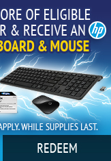 Redeem Eligible HP Toner Wireless Keyboard & Mouse on $200 Purchase