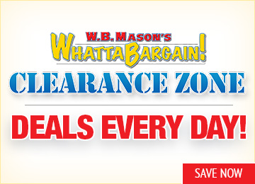 Save in the W.B. Mason Clearance Zone