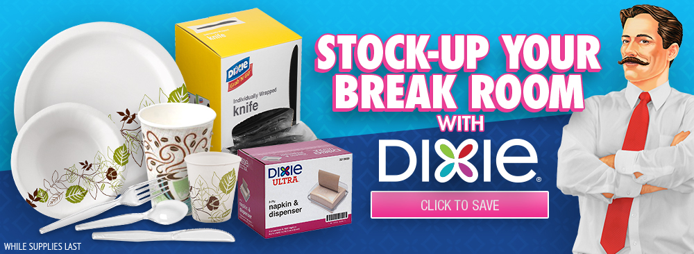 Stock up and Save with Dixie