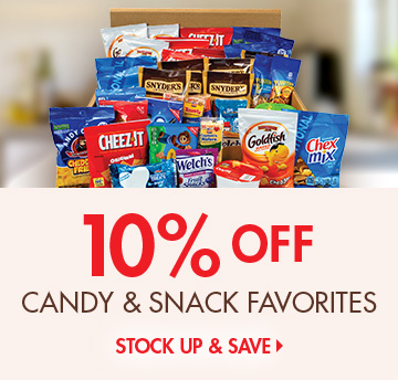 Save 10 Percent on Snacks