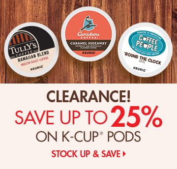 Save on K-Cup Pod Clearance