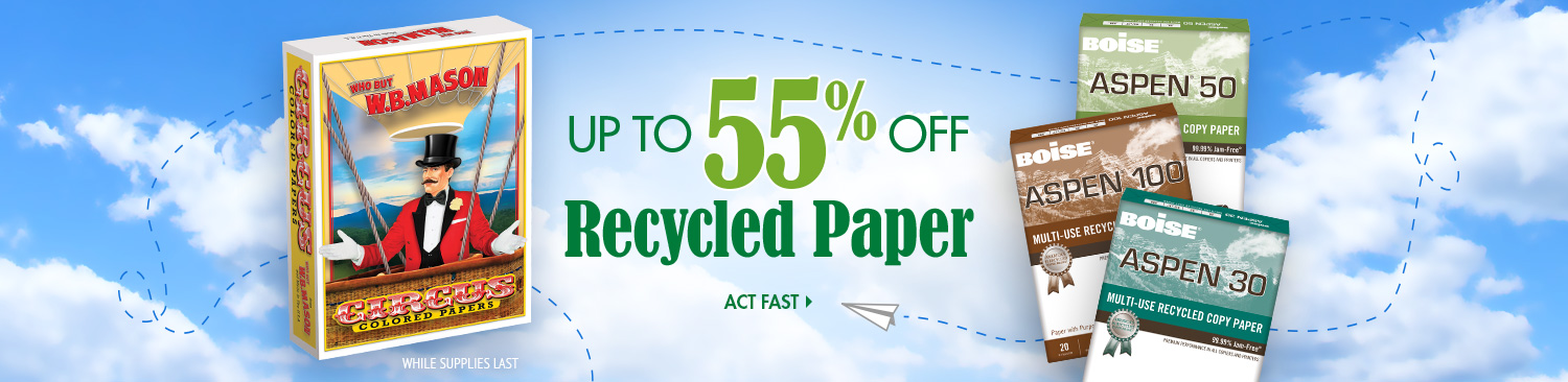 Save on Recycled Paper