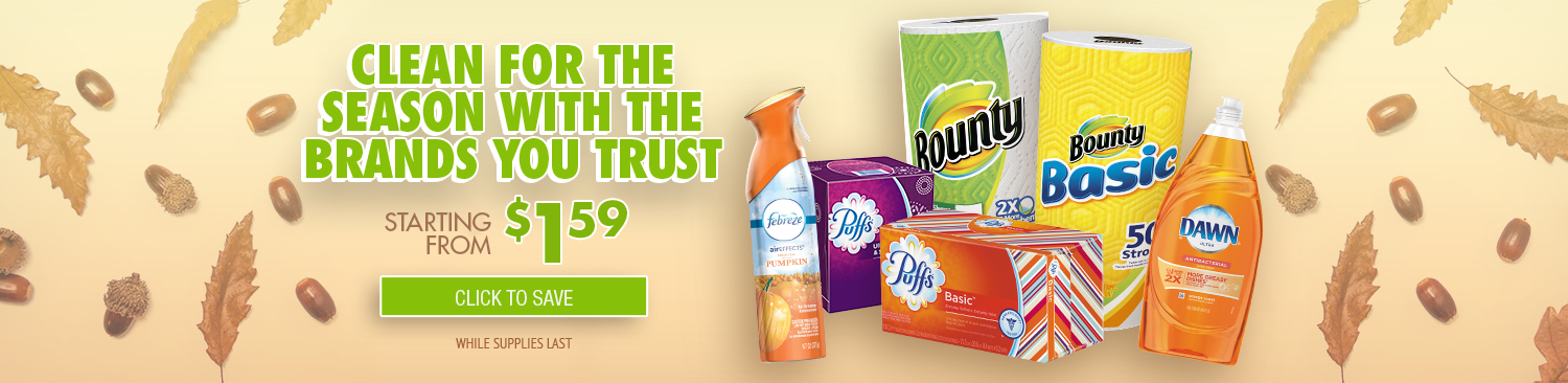 Save on Febreze, Tissues & Cleaning Products