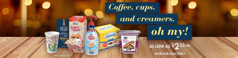Save on Coffee Station Supplies