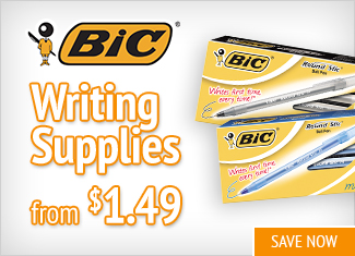 Save on Bic Writing Supplies