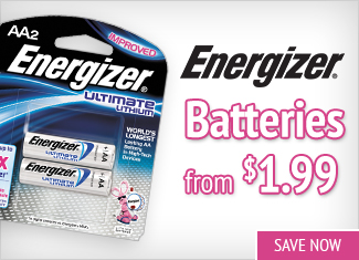 Save on Energizer Batteries